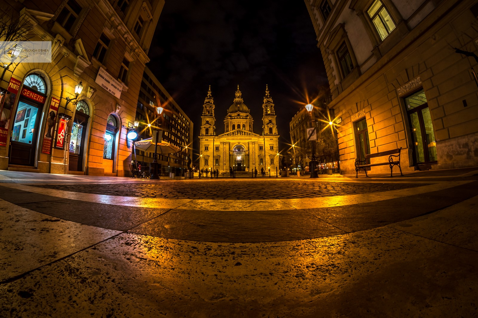 St Stephens Basilica by night