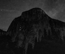 El Capitan - Climbers and Stars